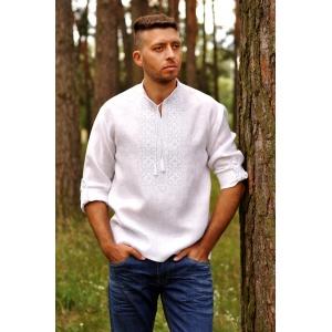 Вышиванка мужская белым по белому