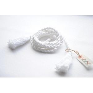 Пояс плетеный белый