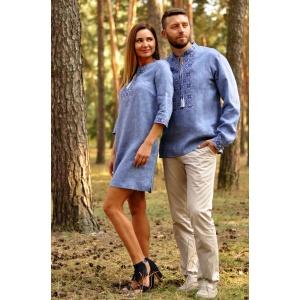 Вышитая мужская рубашка и оригинальное платье-трансформер из тонкого льна