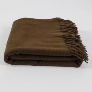 Кашемировый плед-покрывало 140х200см 250г/м2 19I1-3-2-brown (Коричневый)