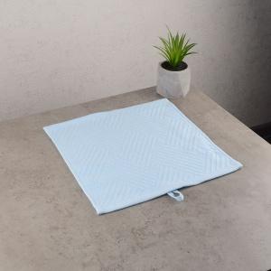 Махровая жаккардовая салфетка с петелькой GM Textile 30х30см 400г/м2 (Голубой)