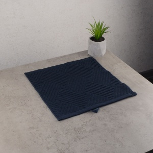 Махровая жаккардовая салфетка с петелькой GM Textile 30х30см 400г/м2 (Темно-серый)