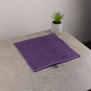 Махровая жаккардовая салфетка с петелькой GM Textile 30х30см 400г/м2 (Фиолетовый)