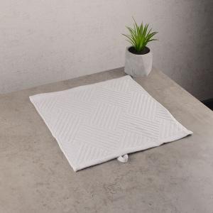 Махровая жаккардовая салфетка с петелькой GM Textile 30х30см 400г/м2 (Серебро)