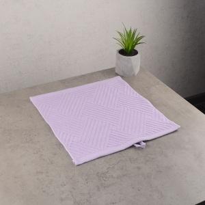 Махровая жаккардовая салфетка с петелькой GM Textile 30х30см 400г/м2 (Сиреневый)