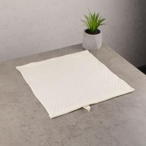 Махровая жаккардовая салфетка с петелькой GM Textile 30х30см 400г/м2 (Бежевый)