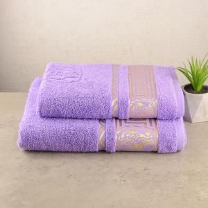 Комплект полотенец махровых 2шт GM Textile 50х90см, 70х140см Caesar 450г/м2 (Лавандовый)