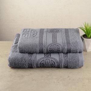 Комплект полотенец 2шт GM Textile 50х90см, 70х140см Spartac 450г/м2 (Серый)
