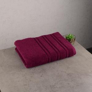 Набор махровых полотенец 3шт GM Textile 50х90см, 50х90см, 70х140см Polosa-6 450г/м2 (Вишневый)