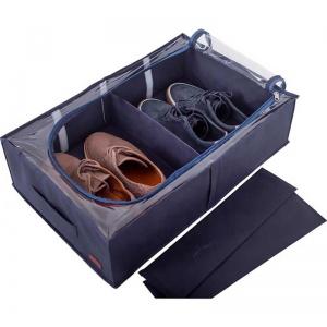 Органайзер для хранения вещей и обуви на 4 отделения KHV-3-Grey (Серый)