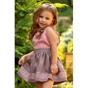 Детский топик и юбка с вышивкой для девочки