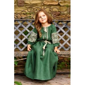 Детское платье из натурального льна