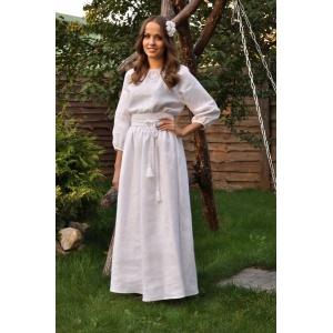 """Белое платье-вышиванка с нежной вышивкой белым по белому"""""""