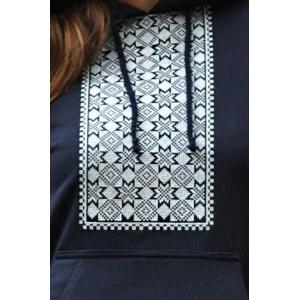 Костюм женский с вышивкой темно-синий