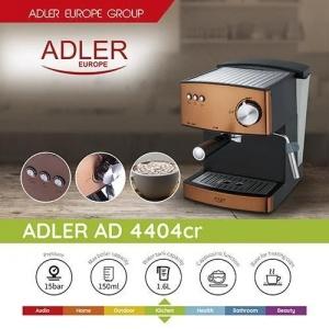 Кофеварка Adler AD 4404 cooprum 15 Bar