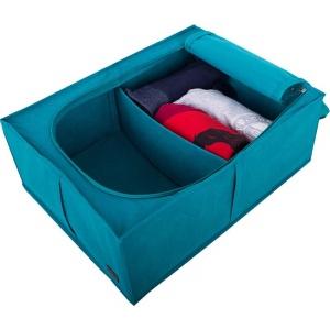 Короб для хранения вещей со съемной перегородкой KHV-2-V-lazur (Лазурь)