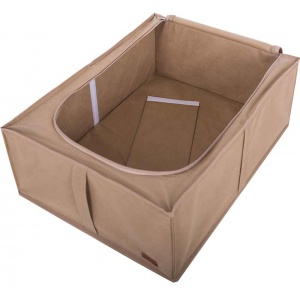 Бокс для хранения вещей со съемной перегородкой KHV-2-V-beige (Бежевый)