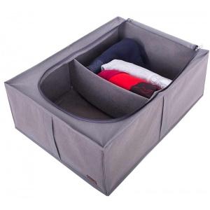 Органайзер для хранения вещей со съемной перегородкой KHV-2-grey (Серый)