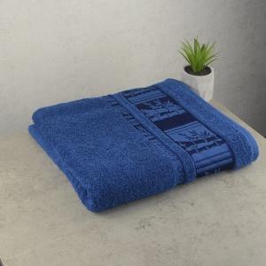 Банное махровое полотенце GM Textile 70х140см BambooN 450г/м2 (Синий)