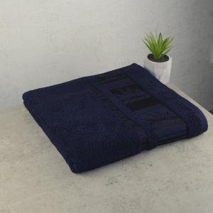 Комплект полотенец 2шт GM Textile 50х90см, 70х140см BambooN 450г/м2 (Темно-синий)