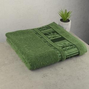 Набор махровых полотенец 3шт GM Textile 50х90см, 50х90см, 70х140см BambooN 450г/м2 (Зеленый)