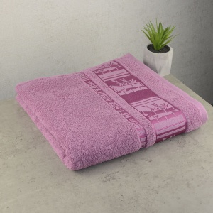 Набор махровых полотенец 3шт GM Textile 50х90см, 50х90см, 70х140см BambooN 450г/м2 (Пудровый)