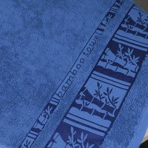Комплект махровых полотенец 3шт GM Textile 50х90см, 50х90см, 70х140см BambooN 450г/м2 (Синий)