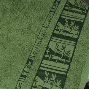 Банное махровое полотенце GM Textile 70х140см BambooN 450г/м2 (Зеленый)