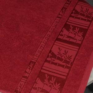 Набор махровых полотенец 2шт GM Textile 50х90см, 70х140см BambooN 450г/м2 (Красный)