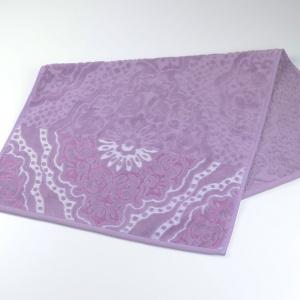 Велюровое жаккардовое полотенце Barkas-Teks 50х90см 450г/м2 (Лавандовый)