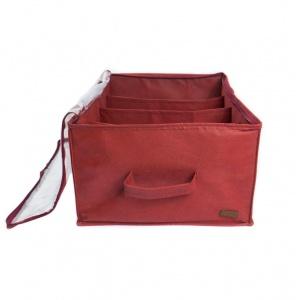 Органайзер для хранения демисезонной обуви на 4 пары BD-O-4 (Бордовый)