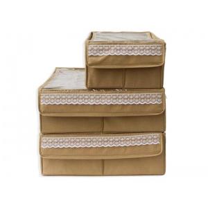 Набор органайзеров с крышками для нижнего белья 3 шт Beg003-Kr (Бежевый)