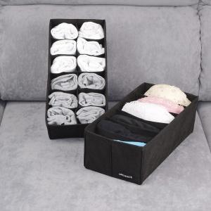 Набор компактных органайзеров для белья 2 шт black-2Small (Черный)