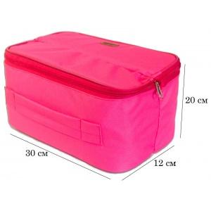Женский органайзер для белья и косметики на 2 отделения C003-rose (Розовый)