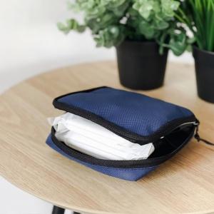 Органайзер для мелочей в сумку 11х11х2 см (Синий)