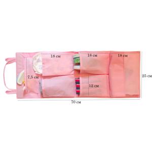 Подвесной органайзер для шкафчика в детский сад E002-rose (Розовый)