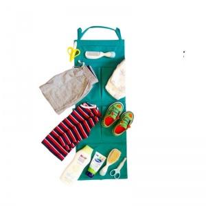 Подвесной органайзер для шкафчика в детский сад E002-zeleniy (зеленый)