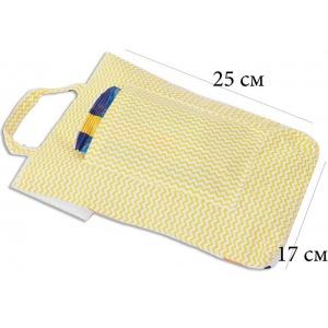 Кармашек для памперсов и влажных салфеток в детскую сумку лисички E003-lisichka (белый)