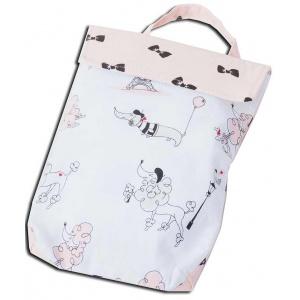 Кармашек для памперсов и влажных салфеток в детскую сумку собачки E003-sobachki (Белый)