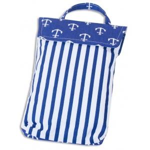 Кармашек для памперсов и влажных салфеток в детскую сумку якоря E003-yakorya (Синий)