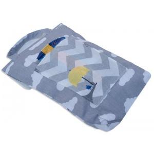 Кармашек для памперсов и влажных салфеток в детскую сумку слоник E003-sloniki (Серый)