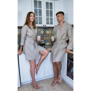 Комплект халатов для мужчины и женщины из натурального льна