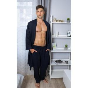 Домашний комплект одежды для мужчин из натурального льна