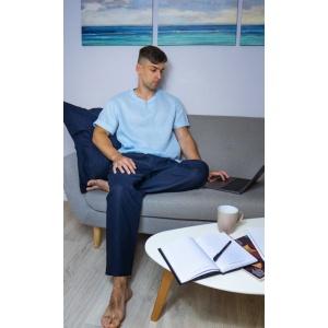 Комплект мужской одежды для дома из натурального льна