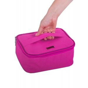 Вместительная дорожная косметичка со съемными перегородками K016 (розовый)