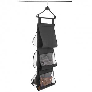 Подвесной органайзер для хранения сумок L (Черный)