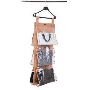 Подвесной органайзер для хранения сумок L (Бежевый)