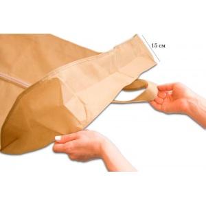 Чехол для объемной одежды с ручками 60*150*15 см HCh-150-15-beige (Бежевый)