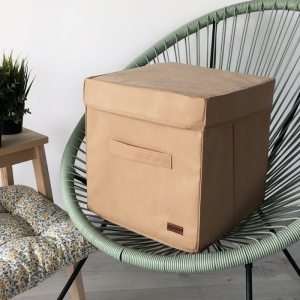 Короб с крышкой для хранения вещей HY-Kr-beg (Бежевый)