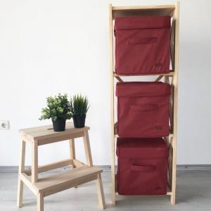 Короб с крышкой для хранения вещей HY-Kr-bord (Бордовый)